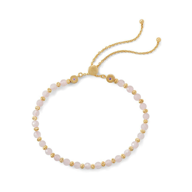 Enthusiastic Yellow Natural Solar Quartz Gold Plated Chain Adjustable Bangle Bracelet Jewelry & Watches