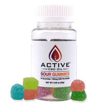 Load image into Gallery viewer, Active CBD Sour Gummies
