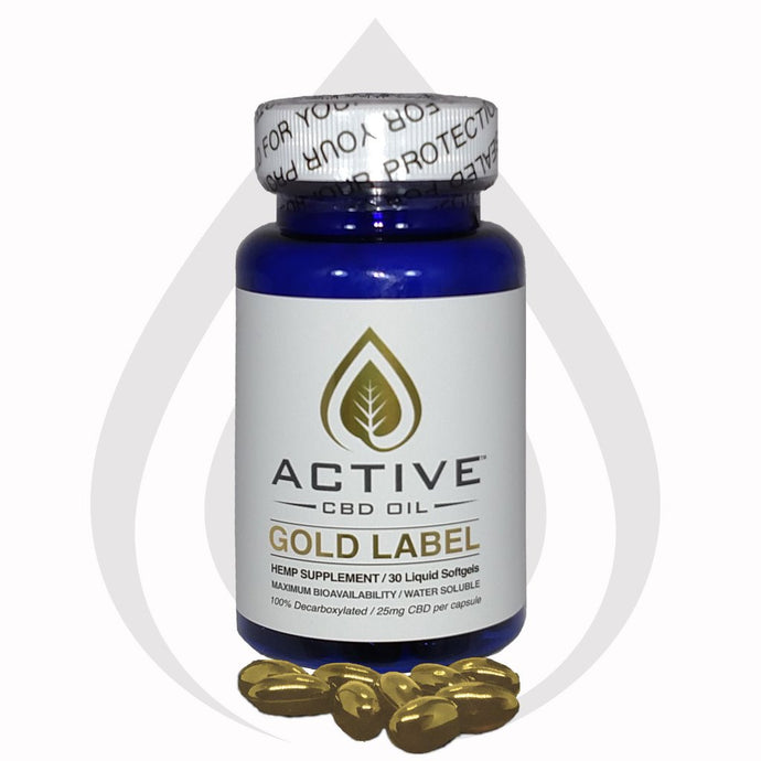 Active 750mg CBD/MCT Oil Water Soluble Capsules