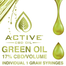 Load image into Gallery viewer, Active CBD Oil Green 17%