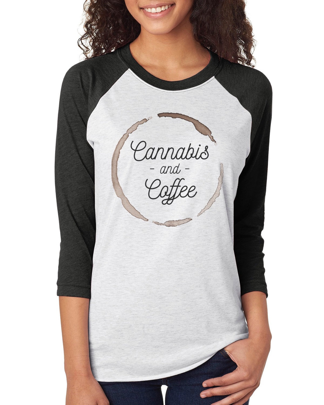 Cannabis & Coffee Raglan