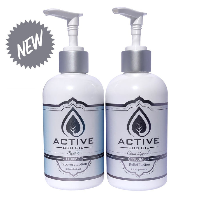 Active CBD Oil Lotion - 1100mg