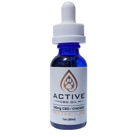 Active 300mg CBD Oil Pet Tincture - Chicken Flavored