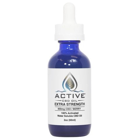Active 900mg CBD Oil Tincture-Water Soluble-2oz