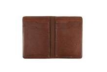 Load image into Gallery viewer, Classic vertical bifold slim wallet in whiskey Kangaroo leather