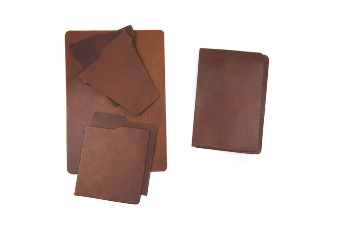 Pre-cut Kangaroo leather DIY vertical bifold slim wallet