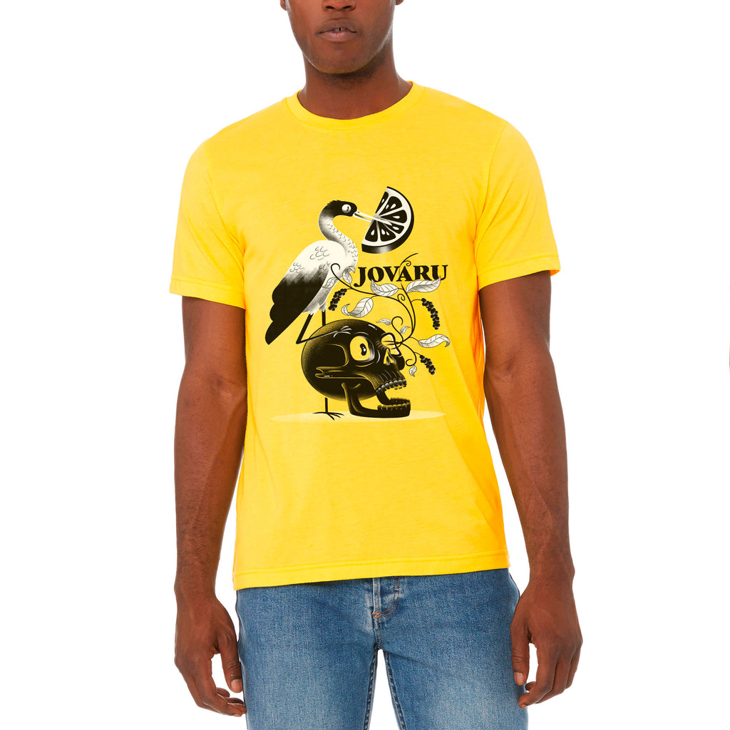 Unisex Heather Yellow Graphic Tee