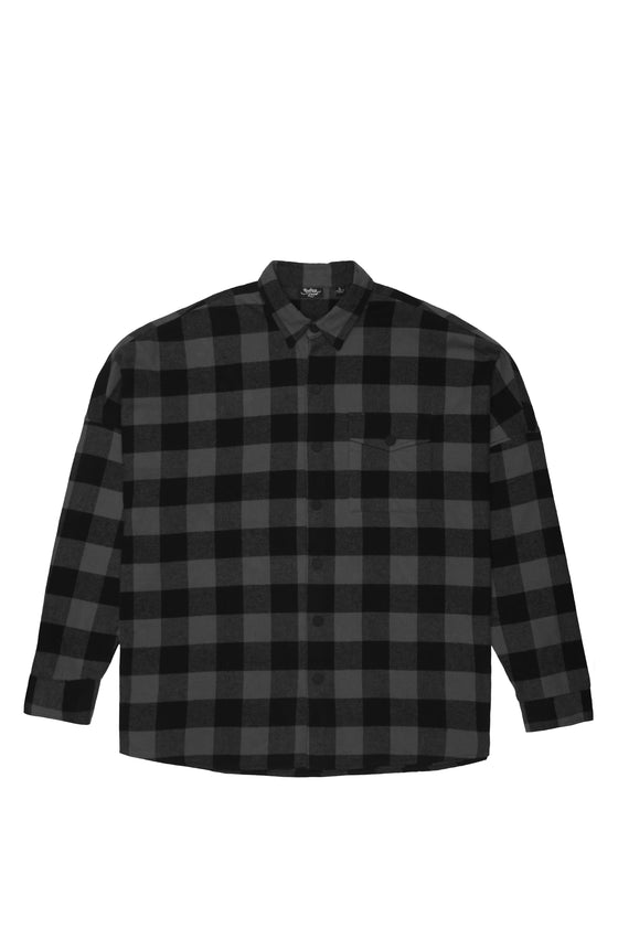 Grey Flannel Drop Shoulder Shirt