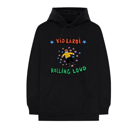 Kid Laroi x Rolling Loud Stream Black Hoodie