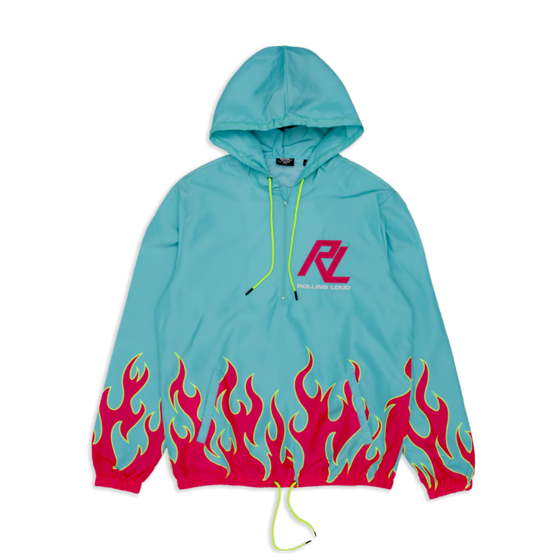RL Moto Flames Windbreaker Jacket