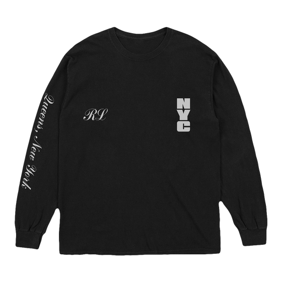 NY19 Statue of Liberty Black LS Tee