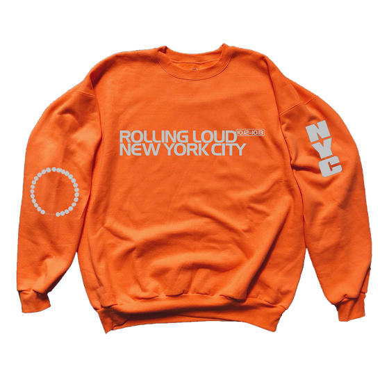 NY19 Rolling City Orange Crewneck