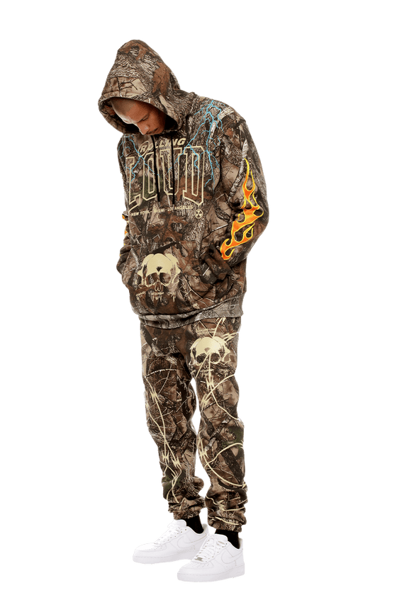 RL Open The Pit Green Hunter Camo Hoodie