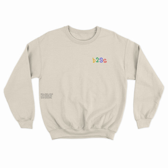 B2SS x RL LA19 It's Poppin Natural Crewneck