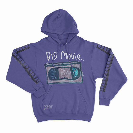 B2SS x RL LA19 Big Movie Purple Hoodie