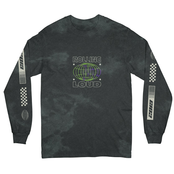 Palm Racing Black Long Sleeve Tee