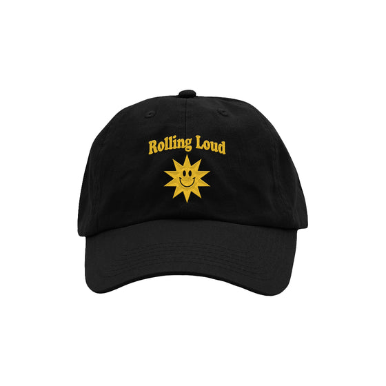 Summer Sun Dad Hat Black/Gold