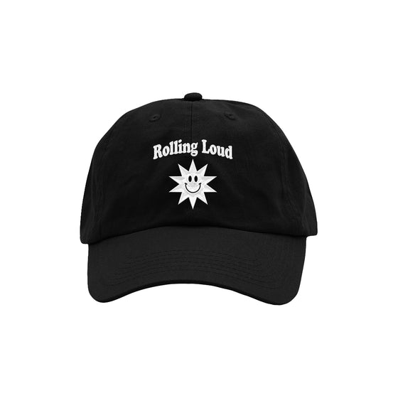 Summer Sun Dad Hat Black/White