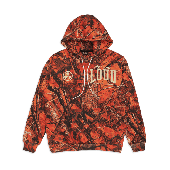 RL Open The Pit Orange Hunter Camo Hoodie