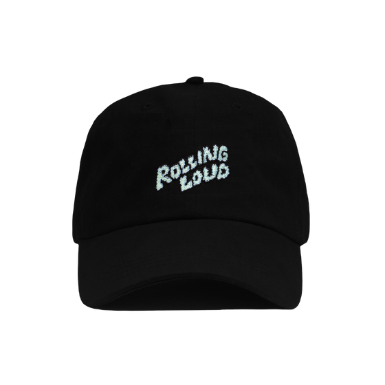 Rolling Loud Miami Black Dad Hat with Puffy Logo