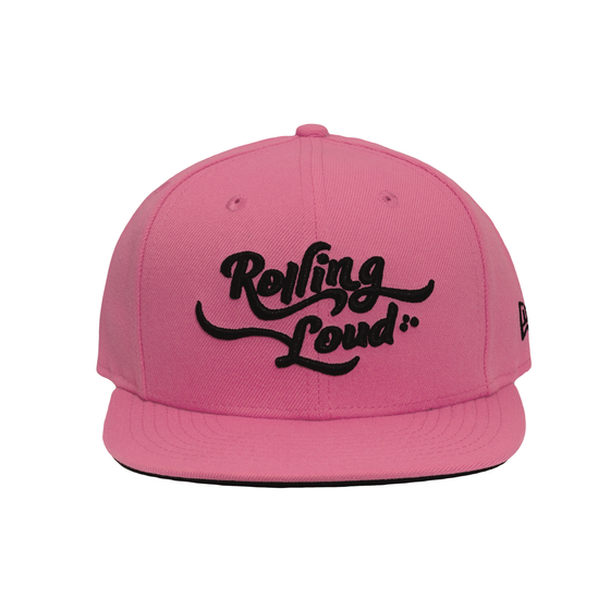 Rolling Loud Miami Pink + Black New Era Snapback