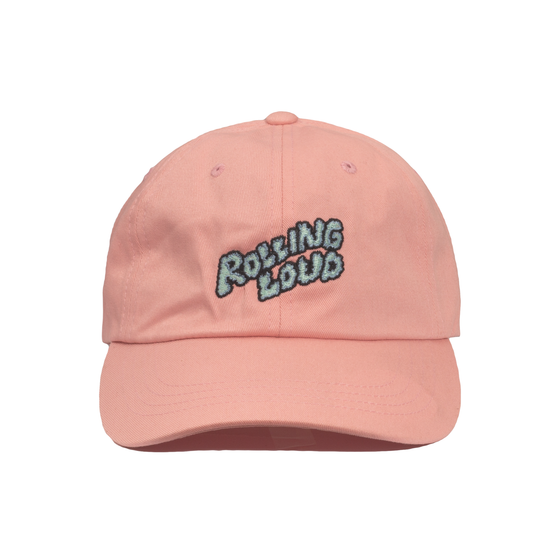 Rolling Loud Miami Pink Dad Hat Puffy Logo
