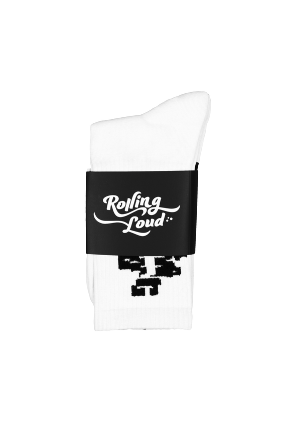 Rolling Loud White Socks