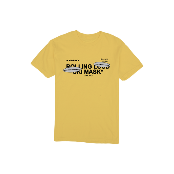 Ski Mask The Slump God x Rolling Loud Yellow Vintage T Shirt