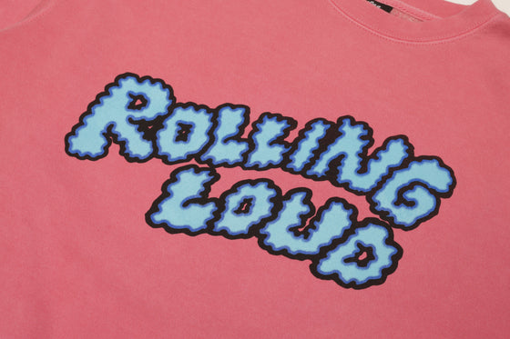 Puffy Logo Washed Pink Crewneck