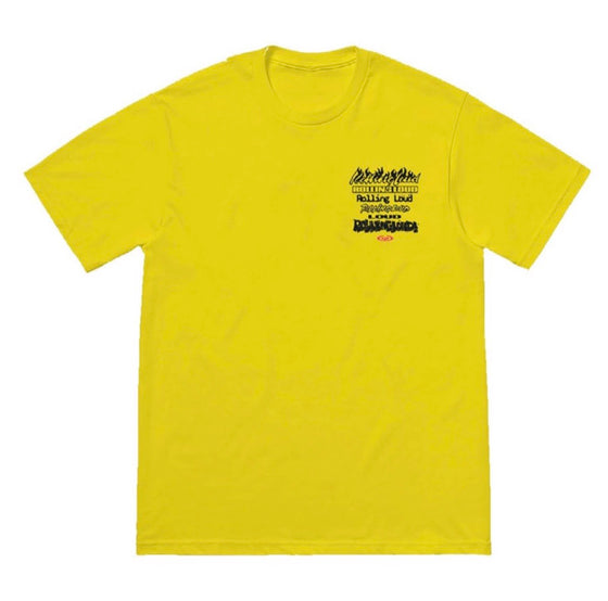 Stacked Logo Yellow SS Tee