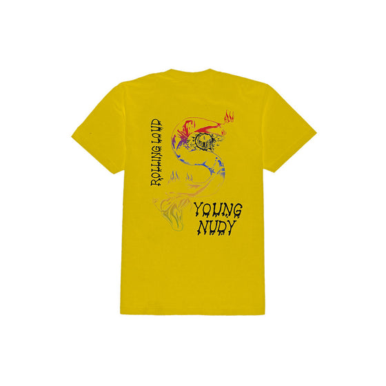 Young Nudy x Rolling Loud Yellow Vintage Tee