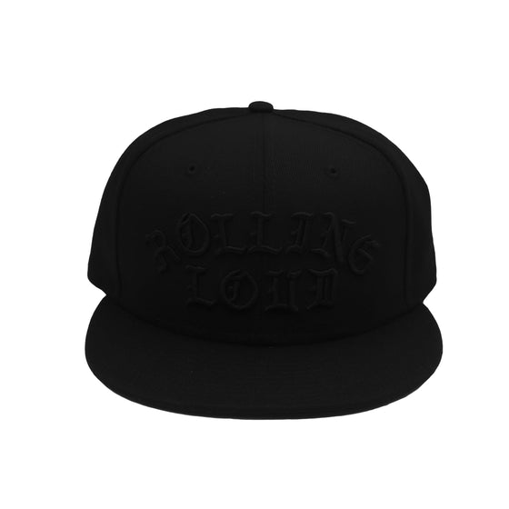 Old English Black/Black New Era Snapback
