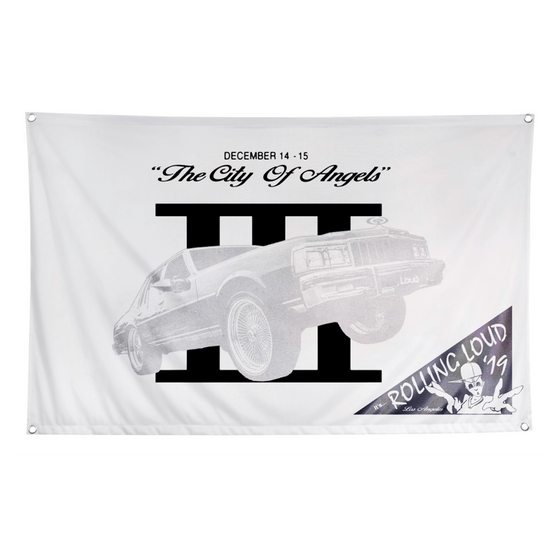 LA19 City Of Angels Festival Flag White