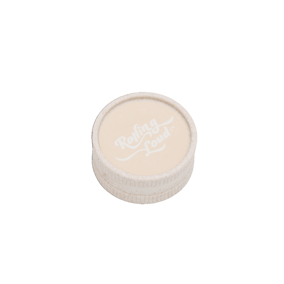Rolling Loud 2 Chamber Plastic White Grinder