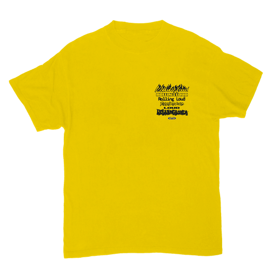 Bay Logo Stacked Yellow SS Tee