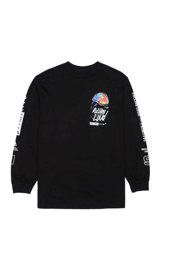 RL x Primitive High Noise Black Long Sleeve Tee
