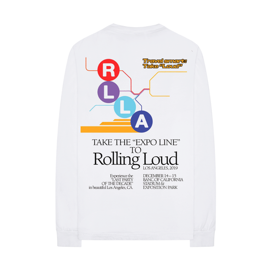 LA19 Expo Line Map LS White Tee