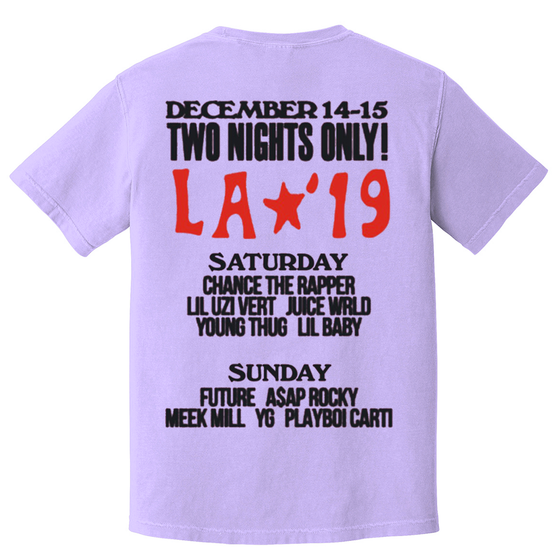 LA19 Two Nights Only Vintage Washed Tee