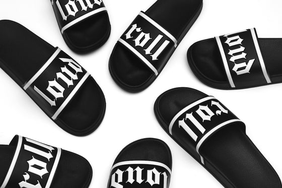 ROLL LOUD OE Embossed Slides
