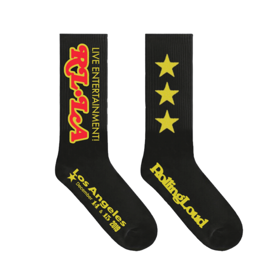 LA19 RL Times Black Socks