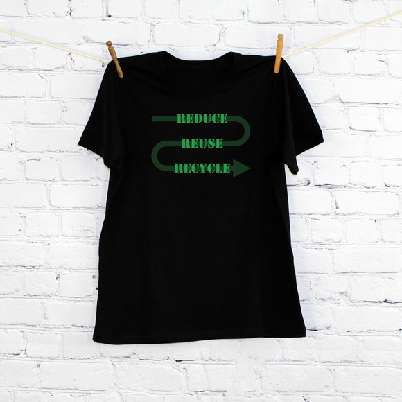 Reduce,Reuse,Recycle Printed T-shirt, Children