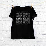 Please Recycle Printed T-shirt, Children