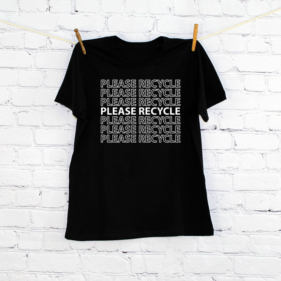 Please Recycle Printed T-shirt, Adult
