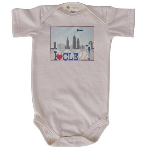 CLE Baseball short sleeve onesie