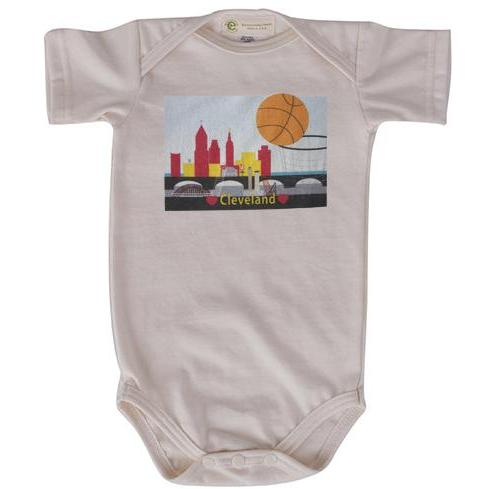 CLE Basketball short sleeve onesie