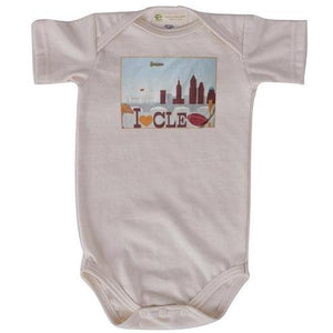 CLE Football short sleeve onesie