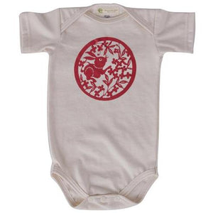 Short sleeve Chinese rabbit onesie