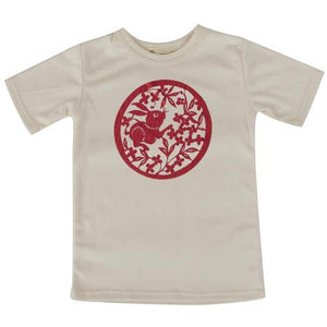 Short sleeve Chinese rabbit adult/youth Tshirt
