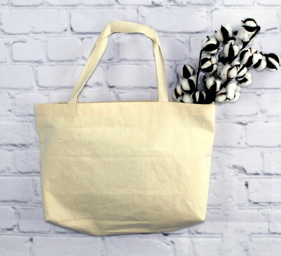 Plain Organic Cotton Tote Bag