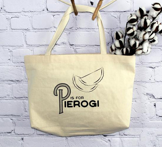 P is for Pierogi, Tote Bag